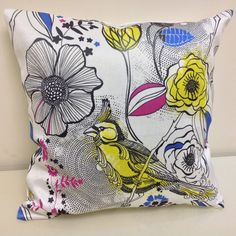 Pillow covers Decorative pillows Floral Bird Pillow by HomeDecorYi