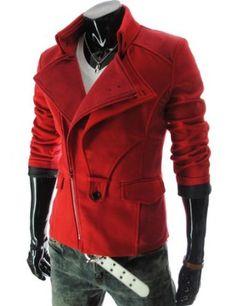TheLees (DJK21) Mens Casual Rider Style Stretchy Slim Zipper Jacket Jumper