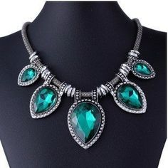 Colored Crystal Vintage Statement Necklace – Indo Bling