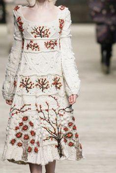 (6) Folt Bolt darling embroidered sweater Dress