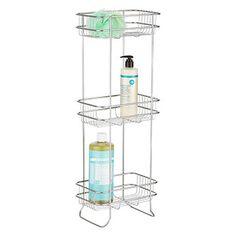 Nickel 3-Shelf Storage Tower