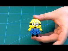 3D Origami small minion tutorial | DIY paper small minion - YouTube