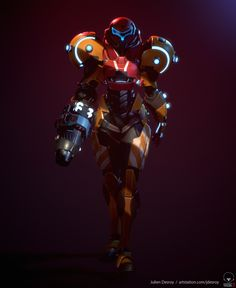 My take on Samus Aran from Metroid. Metroid Samus, Samus Aran, Metroid Prime, 3d Character, Character Concept, Concept Art, Character Design, Character Reference, Super Metroid