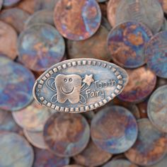 A tooth fairy pressed penny also makes an incredible surprise in the morning. 19 Tooth Fairy Ideas That Are Borderline Genius Pressed Pennies, Loose Tooth, Fairy Gifts, Copper Penny, Tooth Fairy Pillow, First Tooth, Messages, Happy People, Unique Gifts