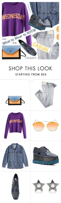 """""""What to Wear to NYFW"""" by pokadoll ❤ liked on Polyvore featuring AG Adriano Goldschmied, Quay, STELLA McCARTNEY and Marc Jacobs"""