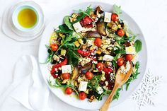 Roast veggie and pearl couscous salad Chicken And Vegetables, Veggies, Tuna Pasta Bake, Pasta Food, Pearl Couscous Salad, Meals Under 500 Calories, Midweek Meals, Weeknight Dinners, Easy Meals