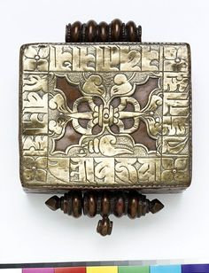 Jewellery (Amulet box), copper and brass, Tibet, circa early 20th century