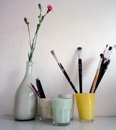 | DIY: Paint glass. |