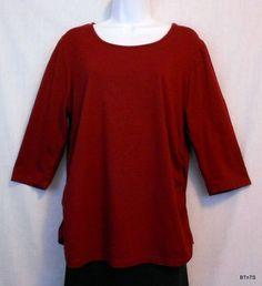 Three Seasons Maternity Burgundy 3/4-Sleeve Top / Shirt / Blouse Women's Size XL www.bevsthisnthatshop.com