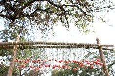 Photo by Rachel Photographs. #wedding #decor #flowers #altar