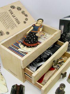 Frida Kahlo Dress-Up Doll ~Artwork © Thuy Nguyen