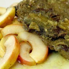Almával sült marhahátszín - Mindmegette.hu Curry, Pork, Kale Stir Fry, Curries, Pork Chops