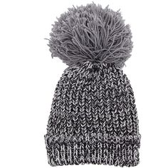 Yoins Grey Beanie Hat with Fur Pom Pom ($17) ❤ liked on Polyvore featuring accessories, hats, grey, fur pom pom beanie, pom pom hat, grey beanie, pom pom beanie hat and cold weather hats