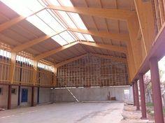 THERMOCHIP® cubre la pista municipal polideportiva del ayuntamiento de Aldover | #THERMOCHIP #paneles #madera #techos #decoracion #interior #arquitectura