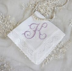Irish Linen and Lace Handkerchief, Monogrammed Handkerchief, Bridal Handkerchief, Wedding Handkerchief, Bridal Party Gifts & Favors - FIND MORE HOME & BRIDAL LINENS BY CLICKING THE PHOTO ABOVE!