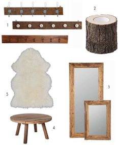 wooden accessoires for a cosy home