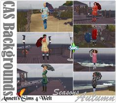 CAS Backgrounds Seasons Autumn at Annett's Sims 4 Welt The Sims, Sims 1, Sims 4 Update, Phan, Vietnam, Backgrounds, Seasons, Autumn, Asia