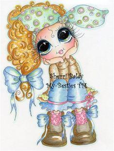 Sherri Baldy Besties | My-Besties Pondering Patunia Sherri Baldy Fine Art Print-