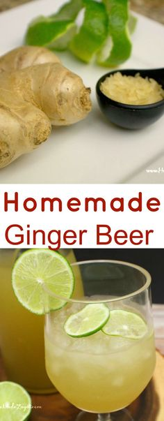 Recipe for Ginger Beer, a West Indian drink that is popular around Christmas time that uses ginger, sugar, rice and is fermented over night for the best flavor christmas mocktails Refreshing Drinks, Yummy Drinks, Healthy Drinks, Dinner Healthy, Healthy Smoothies, Healthy Recipes, Guyanese Recipes, Jamaican Recipes, Homemade Ginger Beer
