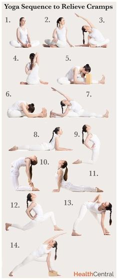 14 #yoga poses to beat #period cramps: http://www.healthcentral.com/sexual-health/c/458275/179112/menstrual-infographic/?ap=2012 #workout #menstruation #womenshealth #health