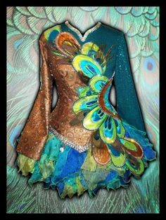 Copper & peacock! Irish dance solo dress. by Dreamin of projects