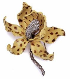 c1889 Brooch | G. Paulding Farnham for Tiffany & Co. | gold, silver, diamonds, rubies, enamel