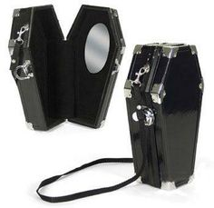 Novelty Coffin Case purse with mirror! LOL guess would be useless for a vampire LOL