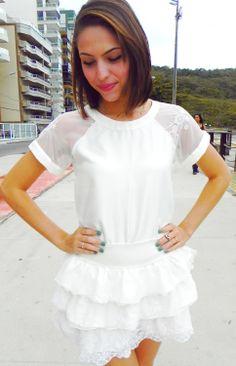 Blusa Amor perfeito R$44,00 + Saia Camélia R$55,00 www.pequenasdivas.con.br