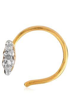 Bling Bling Real Diamond 3 Stone Single Line Nose Ring