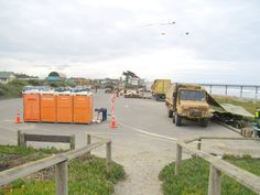 The Army making drinking water after the Feb 22, 2011 earthquakes, New Brighton, Christchurch, New Zealand.