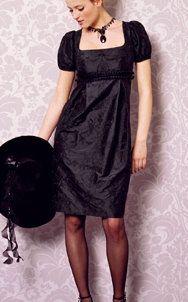 Patrones de vestidos gratis para imprimir en casa escote cuadrado manga farol corte imperio BWOF