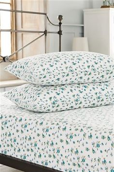 Buy Teal Ditsy Fitted Sheet & Pillowcase Set from the Next UK online shop