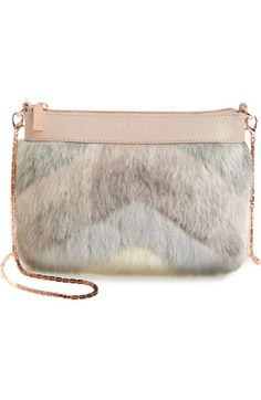 TED BAKER Emmia Faux Fur Crossbody Bag. #tedbaker #bags #shoulder bags #lining #polyester #fur #crossbody #