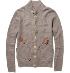 Folk Bobby Waffle-Knit Cardigan $265  i kinda want the $50 knock off. could never pay that for a sweater. or cloths period. ok maybe a suit.