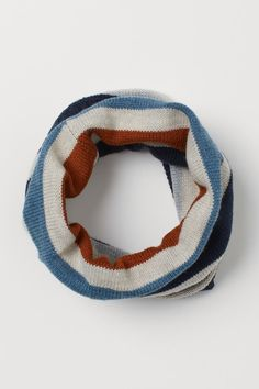 Cable-knit tube scarf - Navy blue/Striped - Kids | H&M GB 1 Blue Stripes, Navy Blue, Tube Scarf, H&m Gifts, Hello Autumn, Bleu Marine, Fashion Company, World Of Fashion, Cable Knit