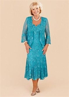 BKSKK Plus Size Mother of the Bride Lace Dresses Tea Length Wedding Party Gowns