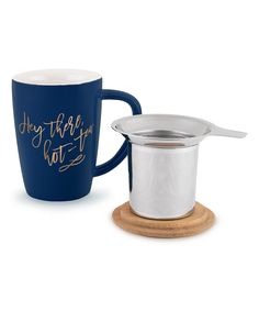 Look what I found on #zulily! Blue 'Hot-Tea' Bailey Ceramic Tea Mug & Infuser by True Brands #zulilyfinds