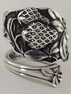 Size 9 Vintage Sterling Silver Watson Spoon Ring by NotSoFlatware, $86.99