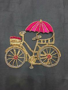 Cycle Embroidery On Kurtis, Embroidery Motifs, Embroidery Suits, Hand Embroidery Designs, Beaded Embroidery, Noctis, Art Textile, Lesage, Passementerie