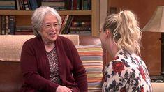 Kathy Bates and Kaley Cuoco in The Big Bang Theory