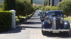 The Volvo group made a grand arrival in vintage cars today. Vintage Cars, Antique Cars, South African Wine, Wine Country, Volvo, Provence, Acre, Group, History