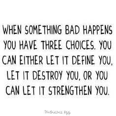 When the bad things happen..