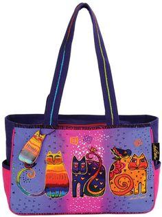 13 Laurel Burch handbags to celebrate catladyhood - Mousebreath Burch Fabrics, Cat Bag, Laurel Burch, Handmade Purses, Boho Bags, Cat Colors, Medium Tote, Comfortable Fashion, Purses And Bags