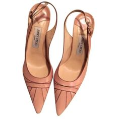 Pre-owned Jimmy Choo Light Pink Pumps ($132) ❤ liked on Polyvore featuring shoes, pumps, light pink, light pink shoes, slingback pumps, jimmy choo pumps, slingback shoes and pre owned shoes
