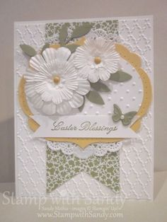 Easter Blessings and Paper Daisies by stampwithsandy - Cards and Paper Crafts at Splitcoaststampers