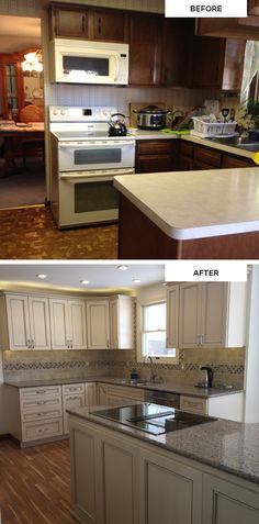 "Fan photos from Karen, who declares ""My dream kitchen has become a reality!"" (Maple KraftMaid cabinets in Biscotti with Cinder Glaze)"