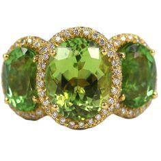 Donna Vock -  Mint Tourmaline and Diamond Cocktail Ring