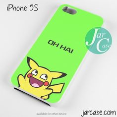 Pikachu Oh Hai Phone case for iPhone 4/4s/5/5c/5s/6/6 plus