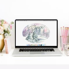"""Heavenly Peace"" December Free Desktop Wallpaper Download"