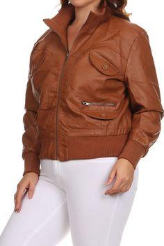 9dd9540846c Plus Size Diva Leather Bomber Jacket – PLUSSIZEFIX Moto Jacket
